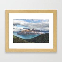 Island clouds Framed Art Print