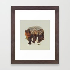 Wild Grizzly Bear Framed Art Print