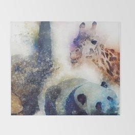 Animals Painting Throw Blanket
