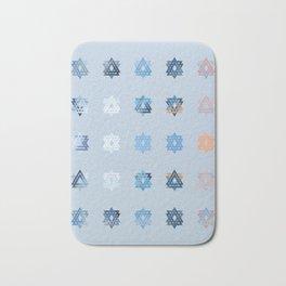 Triniti Snow Crystal (light blue) Bath Mat