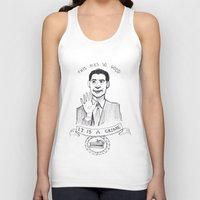 dale cooper Tank Tops featuring DALE COOPER : THIS PIE IS SO GOOD IT IS A CRIME by Adrianna Ojrzanowska