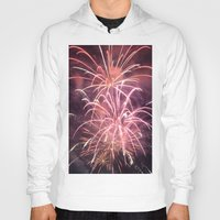fireworks Hoodies featuring Fireworks by Dana E