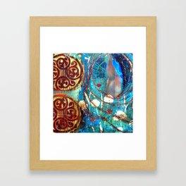 Midnight Moon Feline Framed Art Print