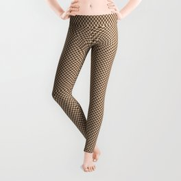 Houndstooth Brown & Cream small Leggings