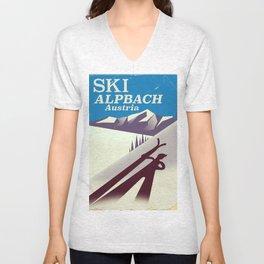 Alpbach Ski Travel poster Unisex V-Neck