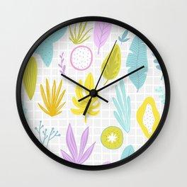 Neon Plants Wall Clock
