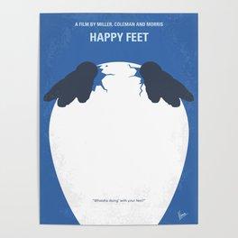 No744 My Happy Feet minimal movie poster Poster