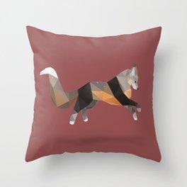 Silver Cross Fox. Throw Pillow