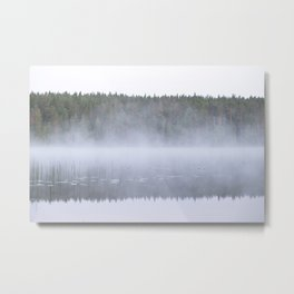 Mist over a lake Metal Print
