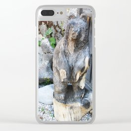 Welcoming Bear Clear iPhone Case