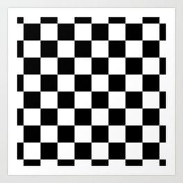Check (Black & White Pattern) Art Print