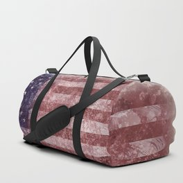 US Flag vintage worn out Duffle Bag