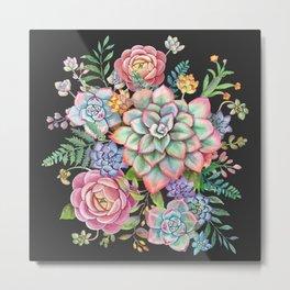 Watercolor Succulent #39 Metal Print
