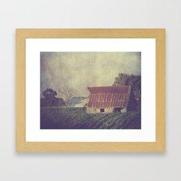 Just Hanging On Framed Art Print
