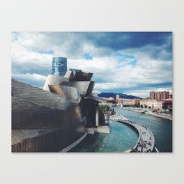 The Guggenheim Museum Bilboa (Frank Gehry Architecture) Canvas Print