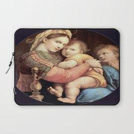 Raphael's Madonna della Sedia 1518 Laptop Sleeve