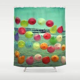 balloons in Istanbul Shower Curtain