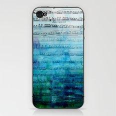 Blue mood music iPhone & iPod Skin