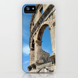 pula croatia ancient arena amphitheatre high iPhone Case