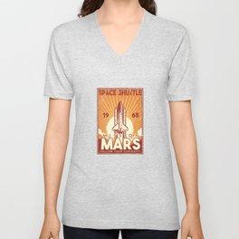 Space Shuttle 1965 Mission Mars Space Gift Unisex V-Neck