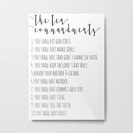 The Ten Commandments Exodus 20 Metal Print