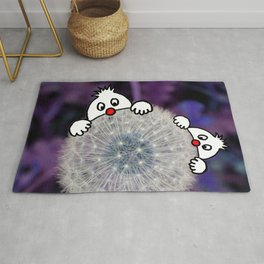 Fly with the dandelion Rug