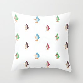 Colorful Birds Pattern Throw Pillow