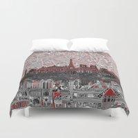 paris Duvet Covers featuring Paris by Bekim ART