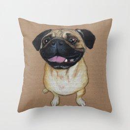 Pug Dog Throw Pillow