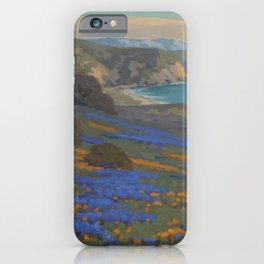 Spring Flowers, Poppies and Lupine, Goleta Point by John Marshall Gamble iPhone Case