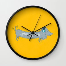 Alone but not Lonely Wall Clock
