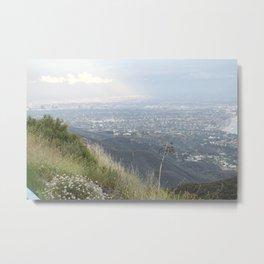 Los Angeles Inward From CoastLine Day Metal Print