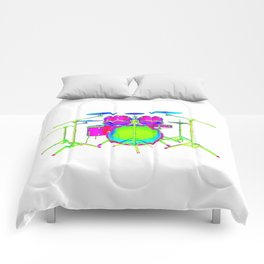 Colorful Drum Kit Comforters