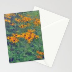 Impressionist Field of Flowers Stationery Cards