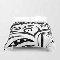 zentangle Duvet Covers featuring Zentangle by Wealie