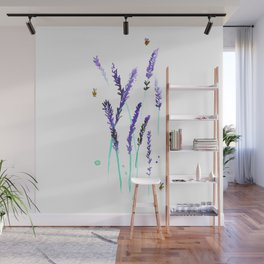 Lavender & Bees Wall Mural