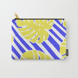 Monstera Leaf - Matisse Inspired Tropical Collage Pattern Carry-All Pouch