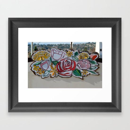 Street Flowers Framed Art Print