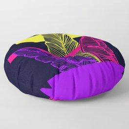 Neon Leaves Floor Pillow