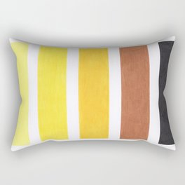 Colorful Yellow Geometric Pattern Rectangular Pillow