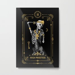 High Priestess II Tarot Card Metal Print