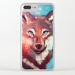 Wolf - Stare - Wanderlust Clear iPhone Case