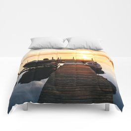 Sunrise at the Cottage Comforters