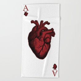 Ace of Hearts Beach Towel