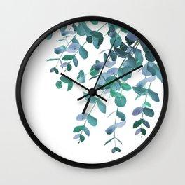 Eucalyptus Teal Blue Green Delight #1 #foliage #decor #art #society6 Wall Clock