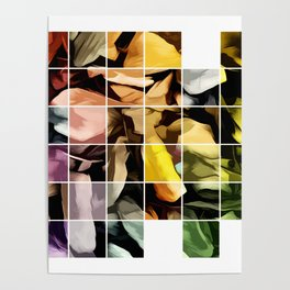 Patch Work Of Autumn Leaves Poster