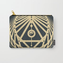 Radiant Abundance (grey-gold) Carry-All Pouch