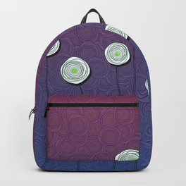 Abstract Flower Design Backpack