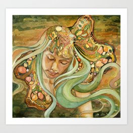 Resting in the Green Wind Art Print
