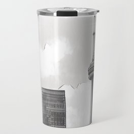 Monochrome Tower Travel Mug